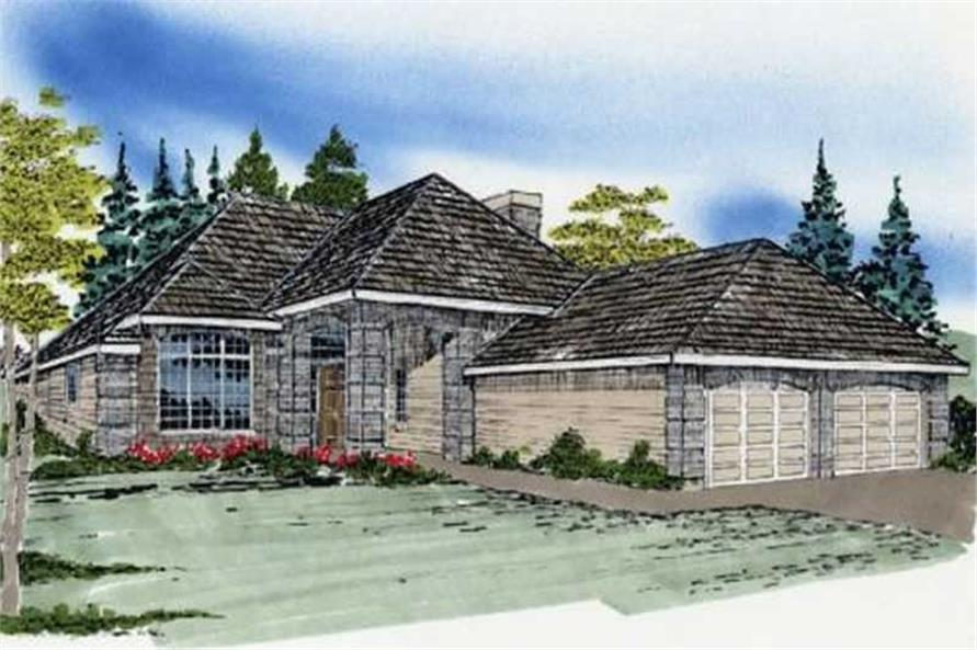 2-Bedroom, 1295 Sq Ft Ranch Home Plan - 149-1550 - Main Exterior