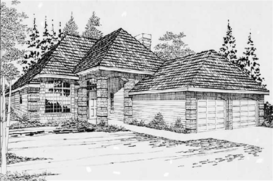 Home Plan Rendering of this 2-Bedroom,1295 Sq Ft Plan -149-1550