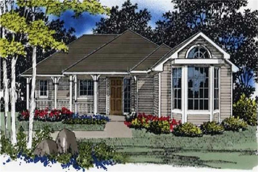 2-Bedroom, 1247 Sq Ft Country Home Plan - 149-1551 - Main Exterior
