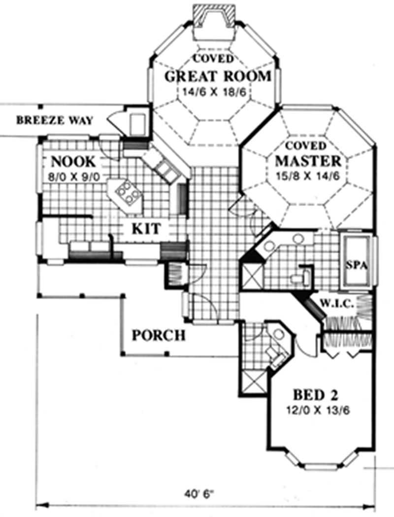 Small feng shui country ranch house plans home design for Garage feng shui