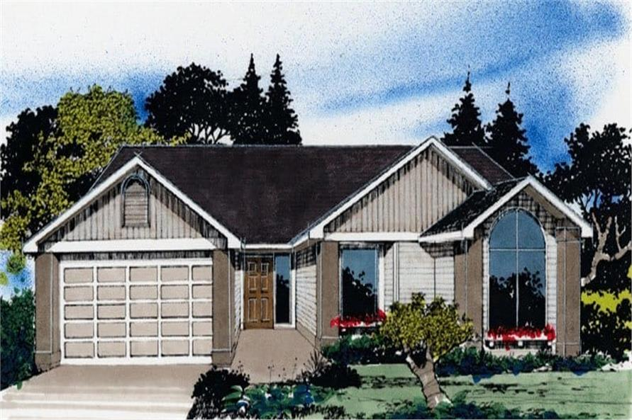 3-Bedroom, 1225 Sq Ft Small House Plans - 149-1552 - Main Exterior
