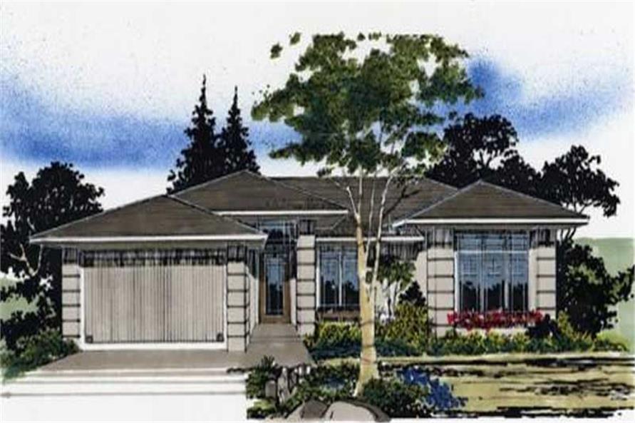 2-Bedroom, 1225 Sq Ft Prairie Home Plan - 149-1553 - Main Exterior