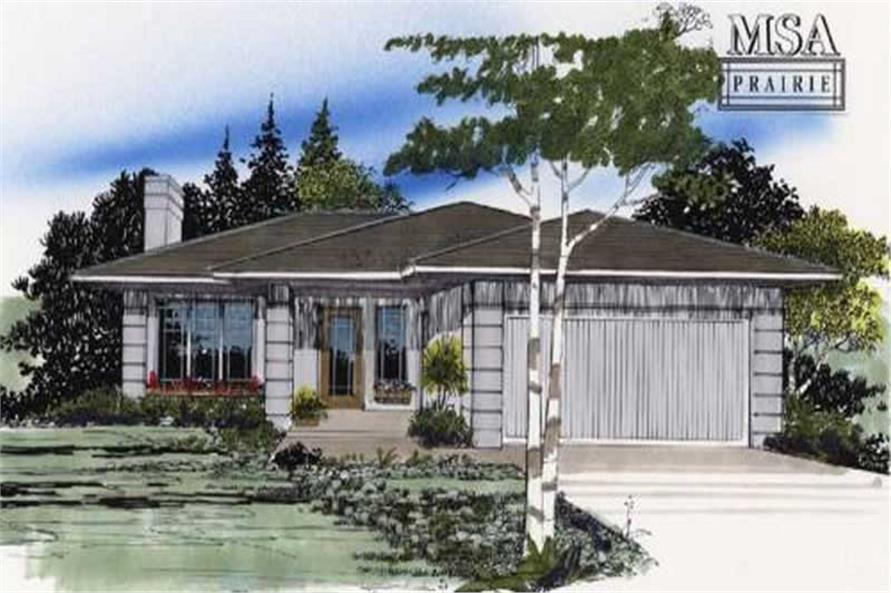 3-Bedroom, 1126 Sq Ft Craftsman Home Plan - 149-1554 - Main Exterior