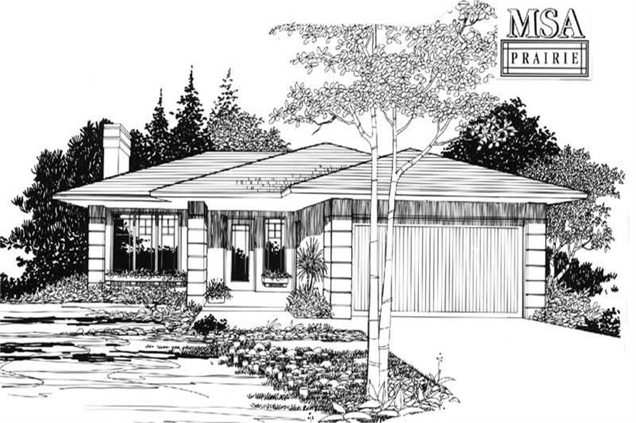 Home Plan Rendering of this 3-Bedroom,1126 Sq Ft Plan -149-1554