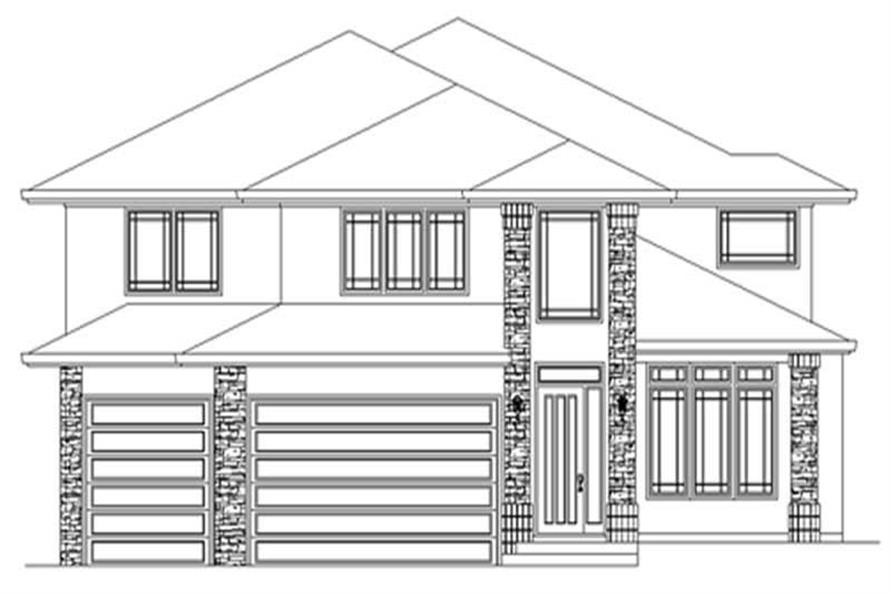 4-Bedroom, 4129 Sq Ft Prairie Home Plan - 149-1558 - Main Exterior