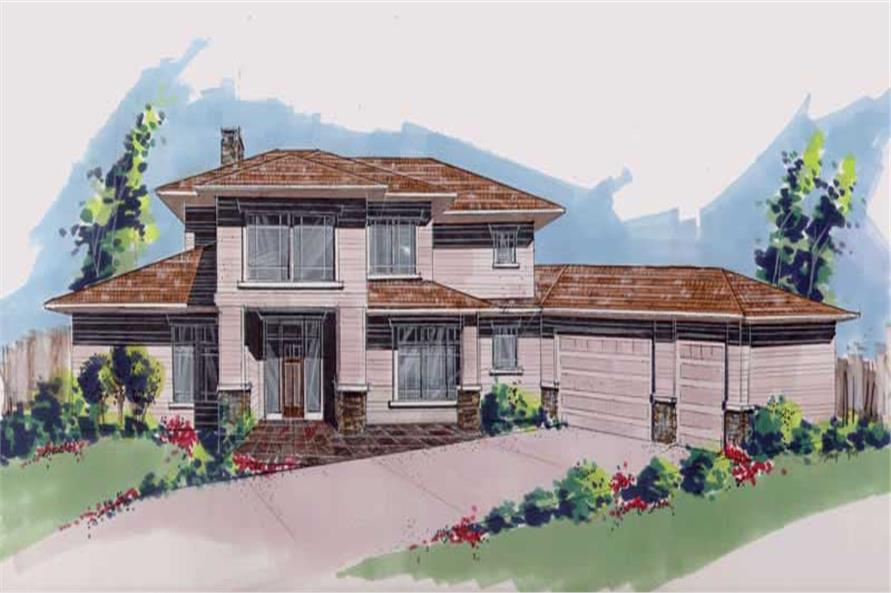 4-Bedroom, 2794 Sq Ft Prairie Home Plan - 149-1566 - Main Exterior