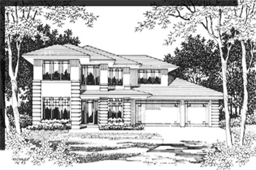 4-Bedroom, 2764 Sq Ft Feng Shui Home Plan - 149-1567 - Main Exterior