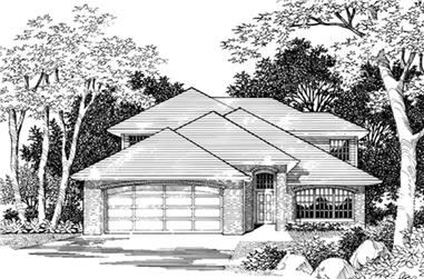 4-Bedroom, 2733 Sq Ft Prairie Home Plan - 149-1574 - Main Exterior