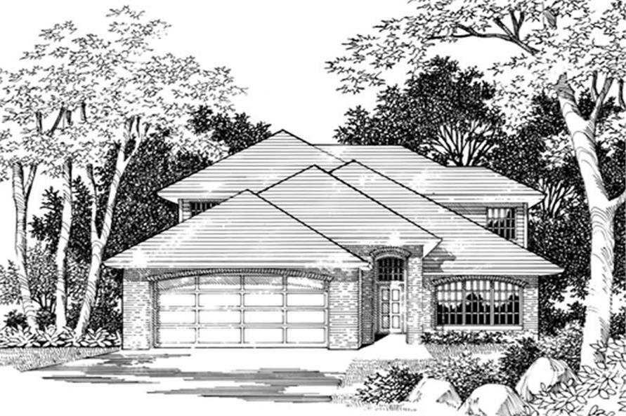 4-Bedroom, 2733 Sq Ft Prairie Home Plan - 149-1574 - Main Exterior
