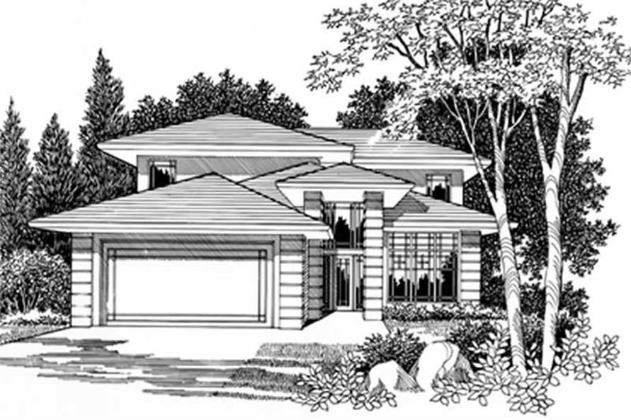 Feng Shui Prairie House Plans Home Design Msap2733cd 2464