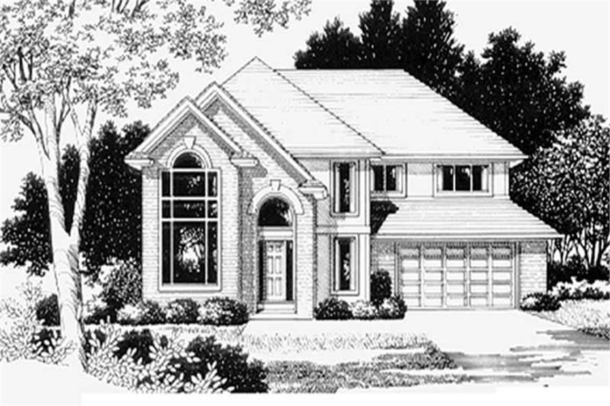 4-Bedroom, 2729 Sq Ft Feng Shui Home Plan - 149-1576 - Main Exterior