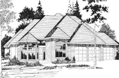 4-Bedroom, 2726 Sq Ft Feng Shui Home Plan - 149-1577 - Main Exterior