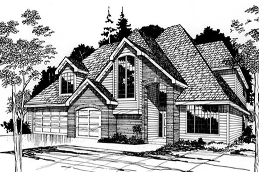 4-Bedroom, 2720 Sq Ft European Home Plan - 149-1579 - Main Exterior