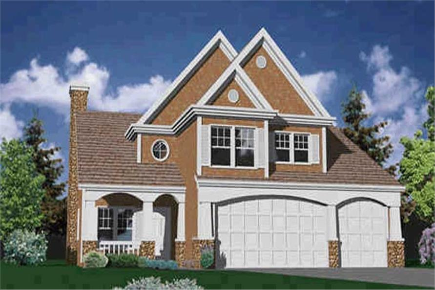 4-Bedroom, 2719 Sq Ft Country Home Plan - 149-1580 - Main Exterior