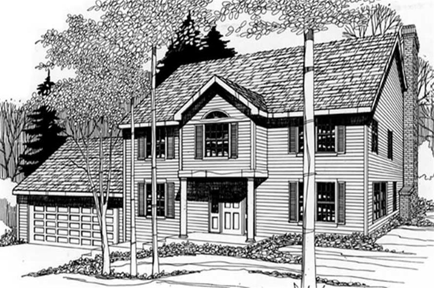 Main image for house plan # 2458