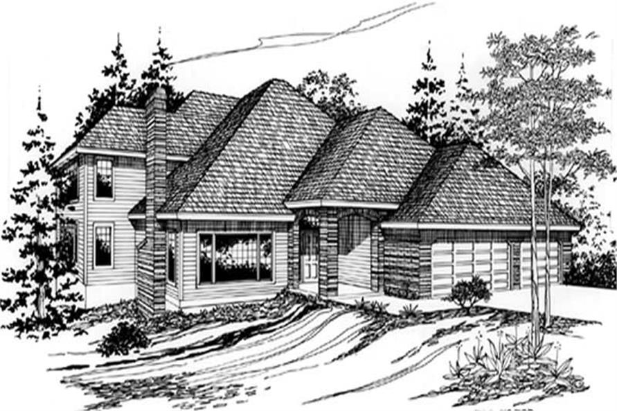 4-Bedroom, 2853 Sq Ft European Home Plan - 149-1582 - Main Exterior