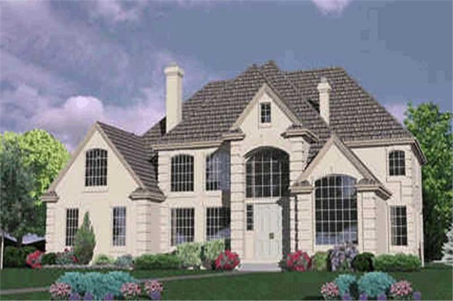4-Bedroom, 3922 Sq Ft French Home Plan - 149-1586 - Main Exterior