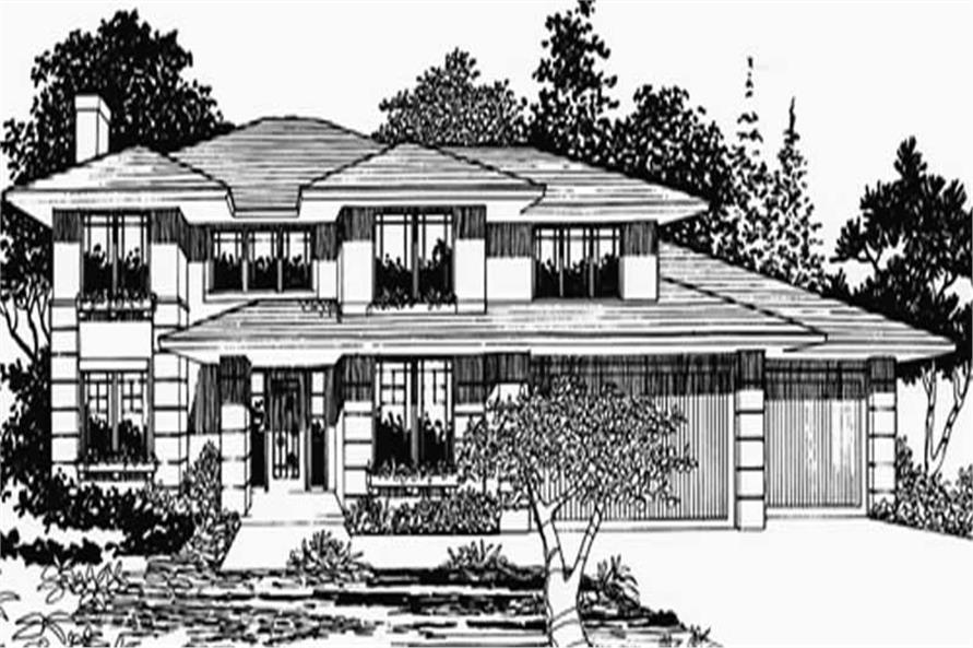 4-Bedroom, 2698 Sq Ft Prairie Home Plan - 149-1587 - Main Exterior