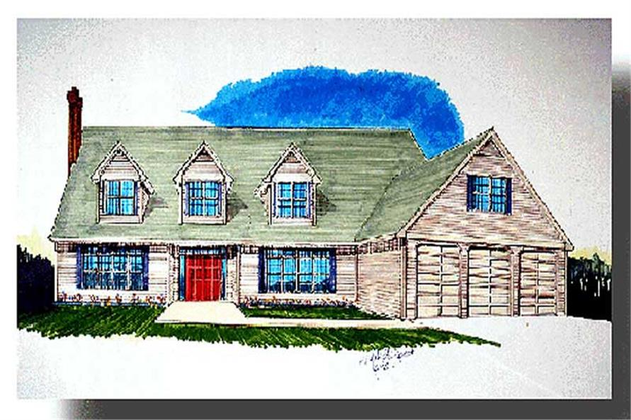 4-Bedroom, 4346 Sq Ft Country Home Plan - 149-1588 - Main Exterior