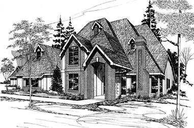 4-Bedroom, 4285 Sq Ft European Home Plan - 149-1589 - Main Exterior