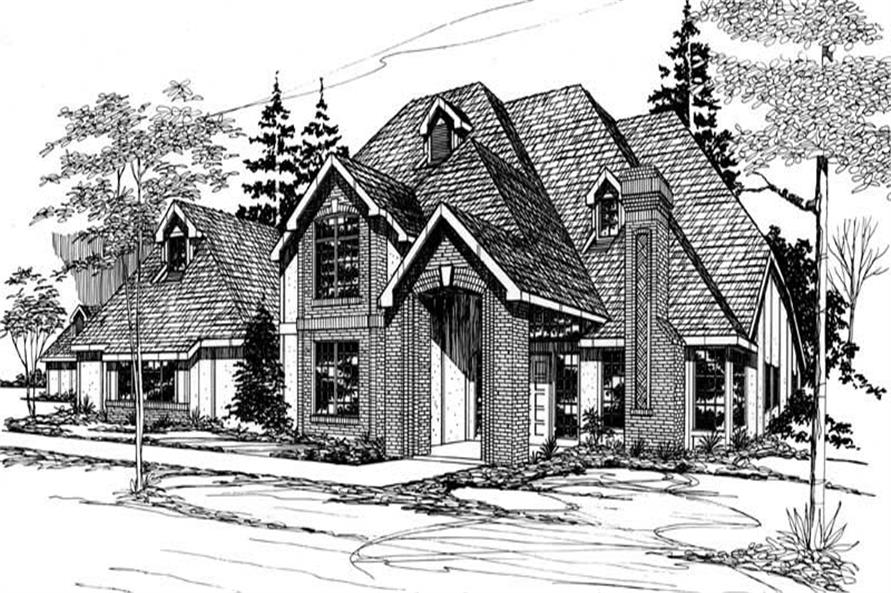 European Home Plans M-4285 front elevation.