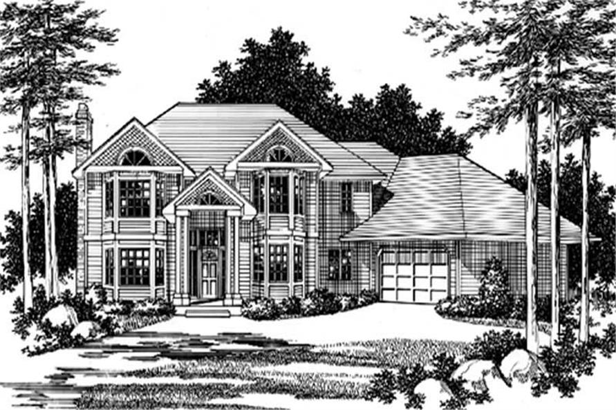 3-Bedroom, 2689 Sq Ft Country Home Plan - 149-1591 - Main Exterior