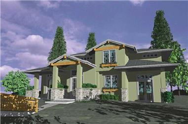 4-Bedroom, 2688 Sq Ft Feng Shui Home Plan - 149-1594 - Main Exterior