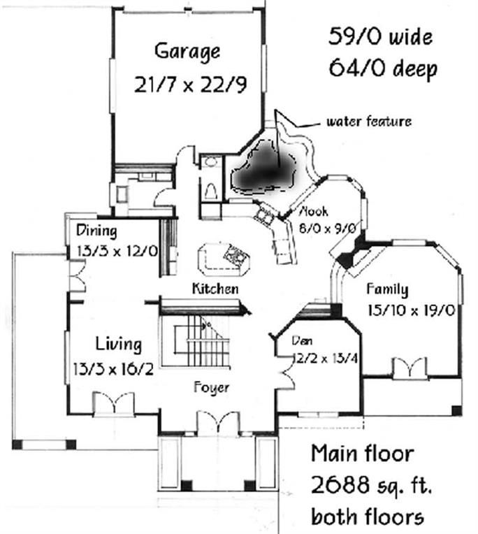 Floor Plan First Story Of Feng Shui 149 1594
