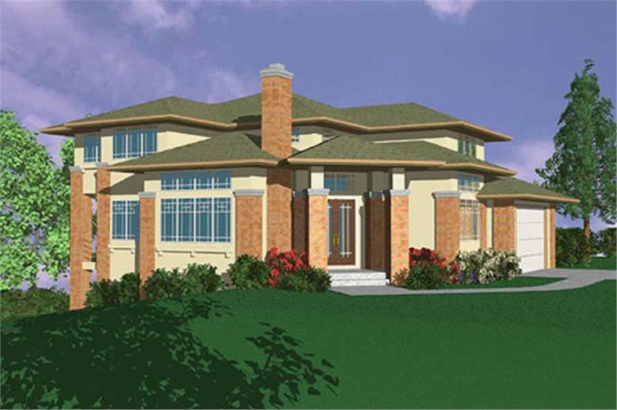 4-Bedroom, 2685 Sq Ft Prairie Home Plan - 149-1595 - Main Exterior