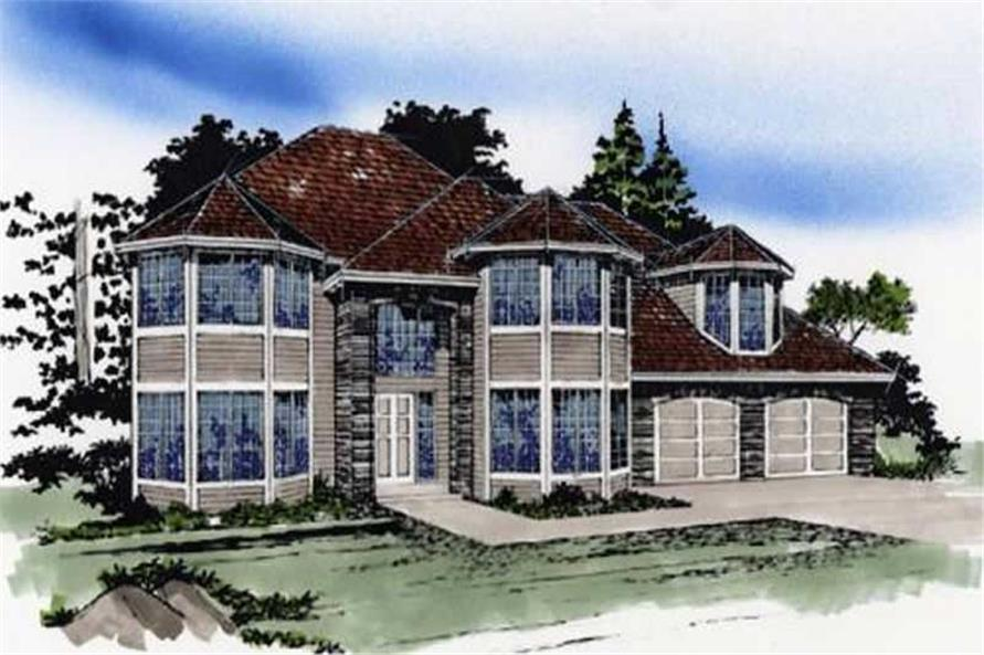 4-Bedroom, 2914 Sq Ft Transitional Home Plan - 149-1597 - Main Exterior