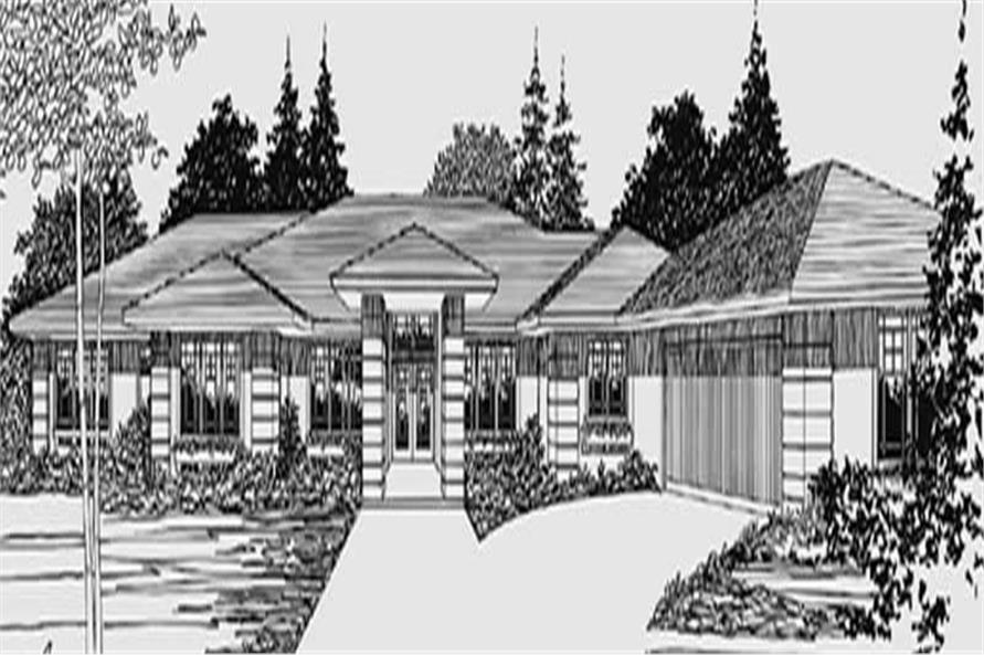 3-Bedroom, 2860 Sq Ft Prairie Home Plan - 149-1598 - Main Exterior