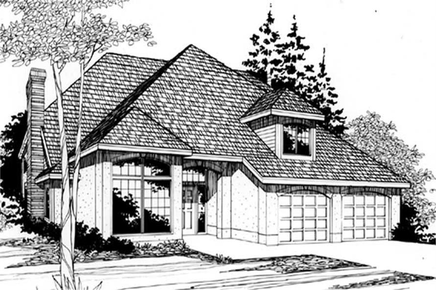 4-Bedroom, 2446 Sq Ft Country Home Plan - 149-1599 - Main Exterior