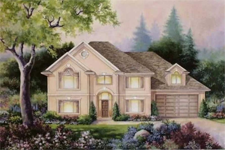 4-Bedroom, 2736 Sq Ft French Home Plan - 149-1607 - Main Exterior