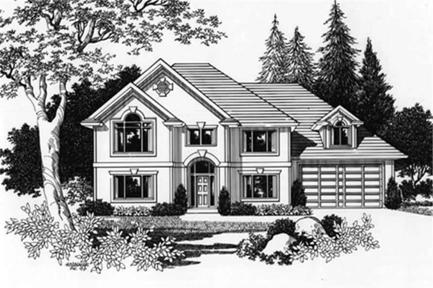 Home Plan Rendering of this 4-Bedroom,2736 Sq Ft Plan -149-1607