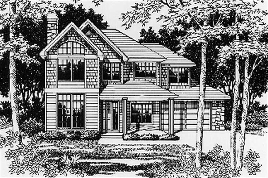 Main Elevation of this 4-Bedroom,2736 Sq Ft Plan -2736