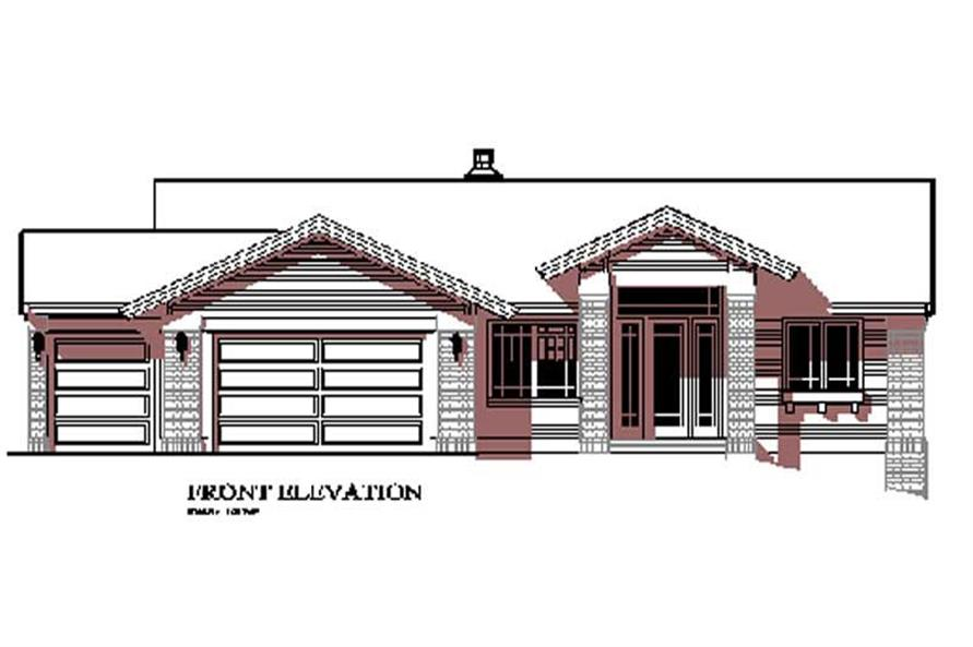 Home Exterior Photograph of this 4-Bedroom,1697 Sq Ft Plan -149-1608