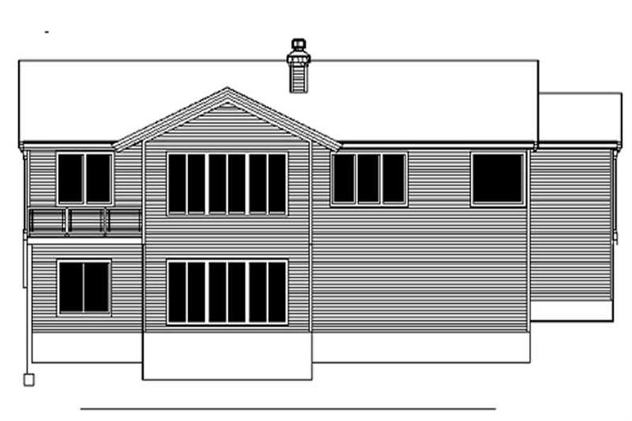 Home Plan Rear Elevation of this 4-Bedroom,1697 Sq Ft Plan -149-1608