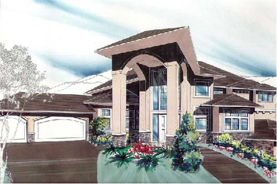 4-Bedroom, 4219 Sq Ft Contemporary Home Plan - 149-1614 - Main Exterior