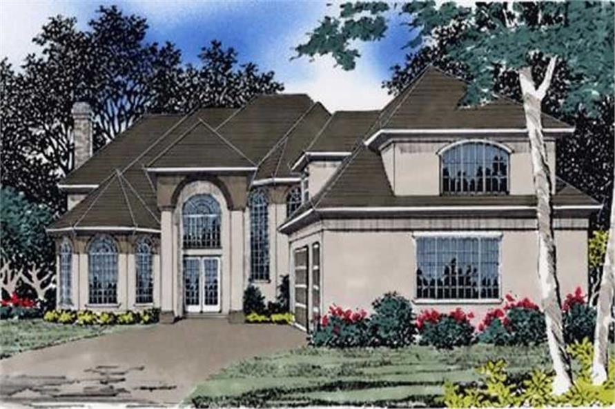4-Bedroom, 6561 Sq Ft French Home - Plan #149-1615 - Main Exterior