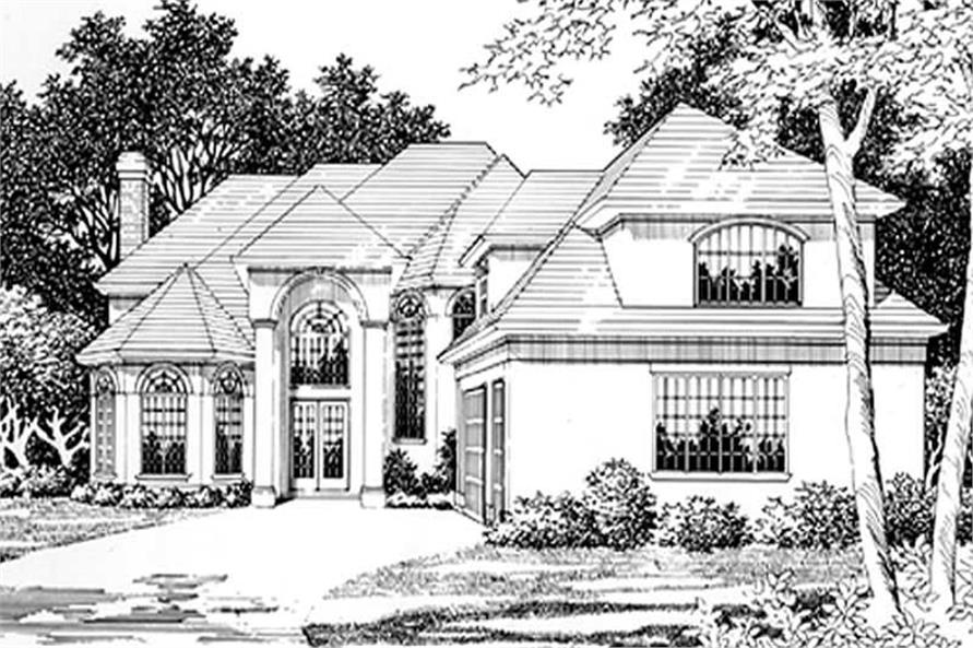 Main Elevation of this 4-Bedroom,6561 Sq Ft Plan -6561