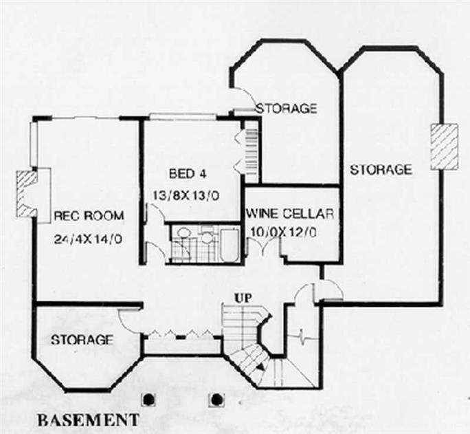 ... Floor Plan Basement of French Plan #149-1615  sc 1 st  The Plan Collection & French Home Plan - 4 Bedrms 4.5 Baths - 6561 Sq Ft - #149-1615