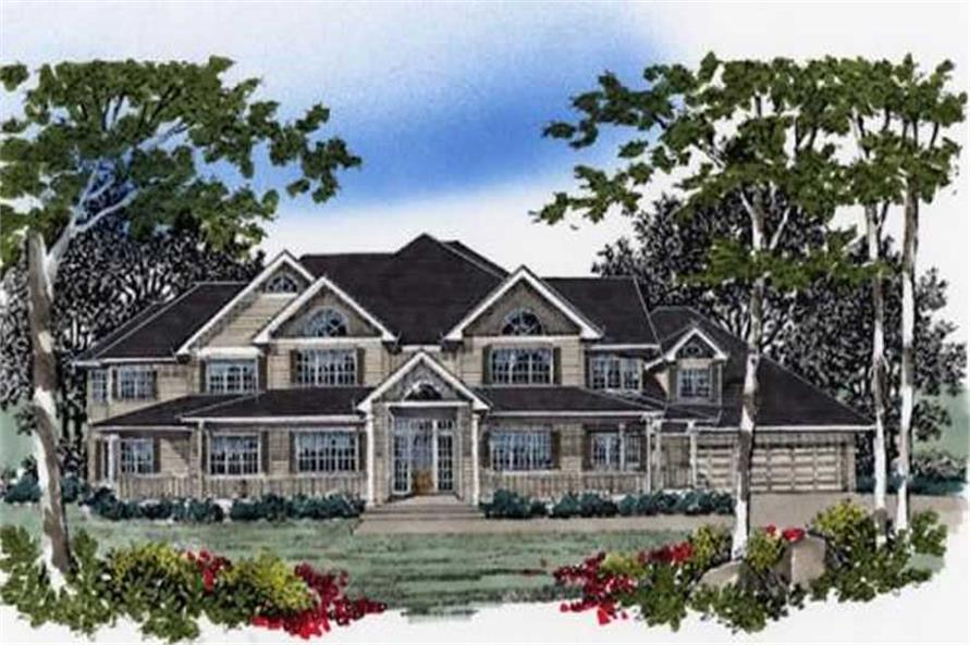 4-Bedroom, 6935 Sq Ft Country Home Plan - 149-1616 - Main Exterior