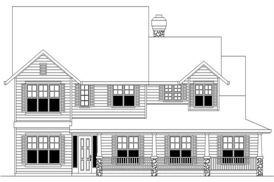 4-Bedroom, 2930 Sq Ft Country Home Plan - 149-1619 - Main Exterior