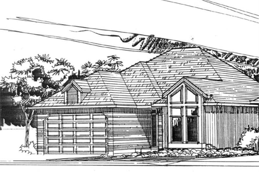 2-Bedroom, 1350 Sq Ft Small House Plans - 149-1622 - Main Exterior