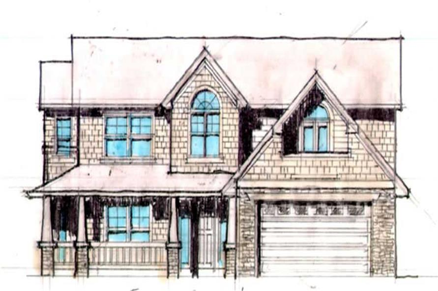 4-Bedroom, 2893 Sq Ft Country Home Plan - 149-1623 - Main Exterior