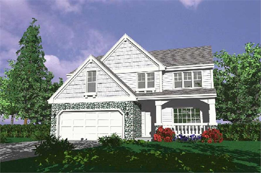 4-Bedroom, 2246 Sq Ft Country House Plan - 149-1624 - Front Exterior
