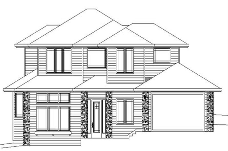 3-Bedroom, 2602 Sq Ft Prairie House Plan - 149-1629 - Front Exterior