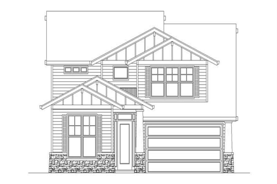 4-Bedroom, 2588 Sq Ft Craftsman House Plan - 149-1631 - Front Exterior