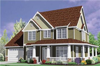 4-Bedroom, 2560 Sq Ft Country House Plan - 149-1636 - Front Exterior