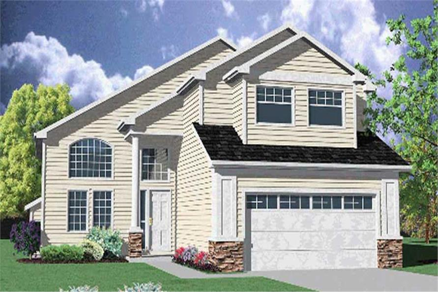 4-Bedroom, 2558 Sq Ft Contemporary House Plan - 149-1637 - Front Exterior